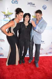 Joan Jett with co-founders of the Long Beach International Film Festival.  Photo by:  Rose Billings/Blacktiemagazine.com