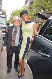Harry and Brandy Norwood on East 67th after Fox 5 .  Photo by:  Rose Billings/Blacktiemagaine.com