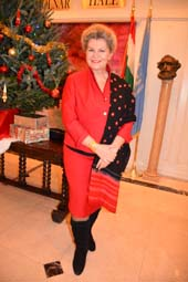 Katalin Bogyay FRSA, FWAAS Ambassador Extraordinary and Plenipotentiary Permanent Representative of Hungary to The United Nations Hosted A Wonderful Foreign Press Association Christmas Party.  Photo by:  Rose Billings/Blacktiemagazine.com