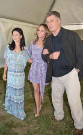 Hilaria Baldwin, Giada DeLaurentis and Alec Baldwin .  Photo by:  Rose Billings/Blacktiemagazine.com