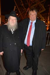 Rabbi Schmuel Butman and John Catsimatidis .  Photo by:  Rose Billings/Blacktiemagazine.com