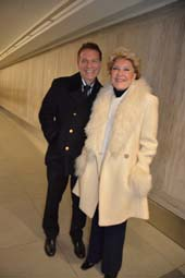 Michael Feinstein and Ginny Mancini (wife of Henry Mancini).  Photo by:  Rose Billings/ Blacktiemagazine.com