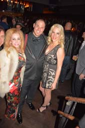 Joy Marks, Steve Eichner and his girlfriend Daniela Kirsch .  Photo by:  Rose Billings/Blacktiemagazine.com