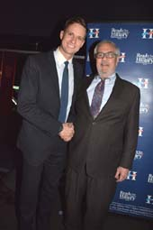 Erik Bottcher and Former Congressman Barney Frank.  Photo by:  Rose Billings/Blacktiemagazine.com