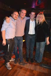 Mario Priola, PJ Mcateer, Ian Reisner, Robin Byrd.  Photo by:  Rose Billings/Blacktiemagazine.com