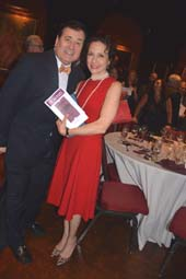 Lee Roy Reams (Host) and Bebe Neuwirth (Helen Hayes Award).  Photo by:  Rose Billings/Blacktiemagazine.com
