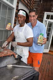 Tim (Chef-Georgica) and Nick Loeb .  Photo by:  Rose Billings/Blacktiemagazine.com