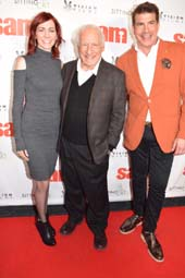 Carrie Preston, Mel Brooks and Bryan Batt .  Photo by:  Rose Billings/Blacktiemagazine.com