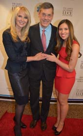 Sara Herbert Galloway, Jim Luce and Alana Galloway (Honoree).  Photo by:  Rose Billings/Blacktiemagazine.com