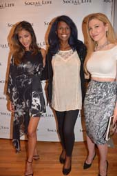 Nicole Scherzinger, Michelle Travis, and Editor Devorah Rose .  Photo by:  Rose Billings/Blacktiemagazine.com