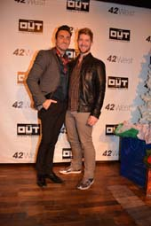 Scott Nevins and Eric Michael Krop.  Photo by:  Rose Billings/Blacktiemagazine.com