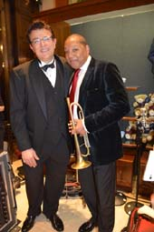 Vince Giordano's Night Hawks and Wynton Marsalis .  Photo by:  Rose Billings/Blacktiemagazine.com