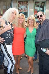 Dee Snider,Twisted Sister Lead Singer, Ainsley Earhardt, Heather Nauert, and Anthony Mendoza Leaving Fox & Friends Twisted Sister Summer Concert .  Photo by:  Rose Billings