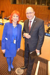 Dr. Judy Kuriansky and UN. Assistant Secretary General.  Photo by:  Rose Billings/Blacktiemagazine.com