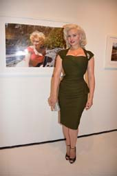 Gia Genevieve and photo of Marilyn.  Photo by:  Rose Billings