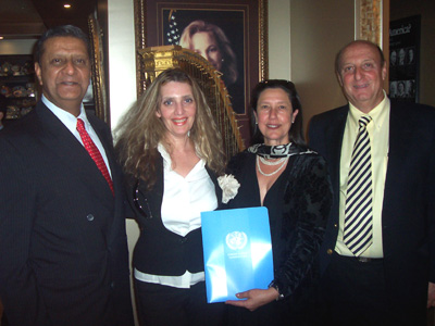 Amir Dossal, Joyce Brooks, Sara Kremer and Yaakov Sabbagh