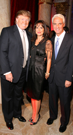 Donald Trump, Carole Rome Crist and Florida Governor Charles Crist