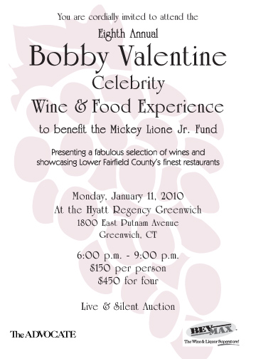 Bobby Valentine Celebrity Wine & Food Experience on Vimeo