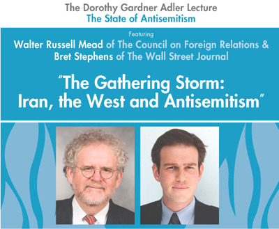 The Dorothy Gardner Adler Lecture, The State of Anti-Semitism