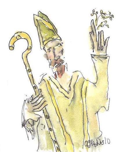 St. Patrick by Art Hughes