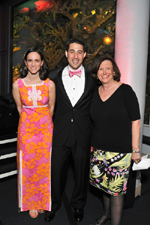 2010 Museum Dance Leadership Chairs Dana Wallach Jones and Andrew Right with Museum President Ellen V. Futter