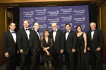 "Jeffrey N. Jones, Charles Fazzino, David Hyde Pierce, Anne McBride Schreiber, Jordan Schreiber, Frank J. Bisignano, Lou-Ellen Barkan, Heath B. McLendon.  Alzheimer's Association, New York City Chapter ""Forget-Me-Not"" Gala June 1, 2009"