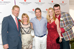 Karl Krieger, Vice Chairman of the Department of Cardiothoracic Surgery at NewYork Presbyterian-Weill Cornell Medical Center,  Ramona and Mario Singer and Alex McCord and Simon Van Kempen from the Real Housewives of New York City
