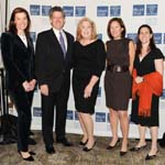 Dr. Ellen Marmur, Dr. Michael Brodman, Dr. Mary Ann McLaughlin, Dr. Elissa Gretz Friedman and Dr. Jennifer Kent 2011 Mount Sinai Women's Health Fashion Show and Luncheon Photo by Billy Farrell Agency