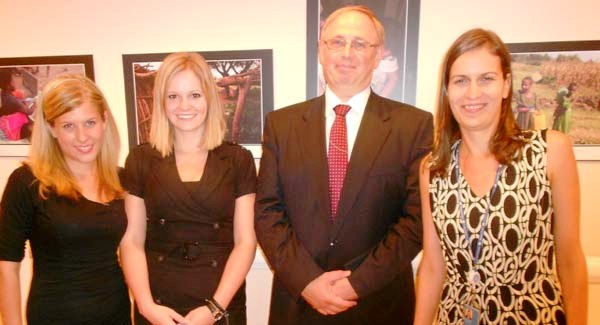 Mirtill Megyeri, Krisztina Pap, Dr.Zsolt Hetesy, Ambassador. Deputy Permanent Representative, Permanent Mission of Hungary to the United Nations, Eva Schafer.