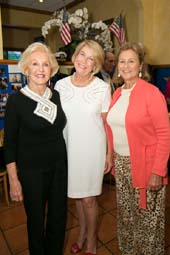 Co-chairman Margery McCloskey, Chairman Rebecca Williams and Co-chairman Jane Woodman.  Photo by:  Capehart