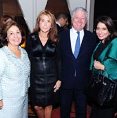 Crown Princess Katherine of Serbia, Cheri Kaufman, Crown Prince Alexander of Serbia, Muna Al Nasser/Lifeline New York's Annual Benefit Luncheon at Le Cirque/Le Cirque, NYC, October 22, 2015�Patrick McMullan/Photo - Owen Hoffmann/PatrickMcMullan.com