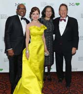 Colbert Narcisse, Jean Shafiroff, Elsie McCabe Thompson, Hollis Russell,NYC Mission Society Champions for Children Gala, Mandarin Oriental, NYCApril 01, 2015. �Patrick McMullan/Photo - Owen Hoffmann/patrickmcmullan.com