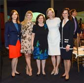 Museum Trustee and Spring Lunch Chair Katheryn P. Kempner, Museum Trustee Alexandra Mondre, Museum President Ellen V. Futter, Spring Lunch Chair Vicki Foley, Spring Lunch Chair Catherine B. Sidamon-Eristoff �AMNH/R. Mickens