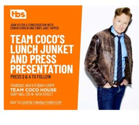 Team Coco Lunch Junket & Press Presentation /  Conan O'Brien