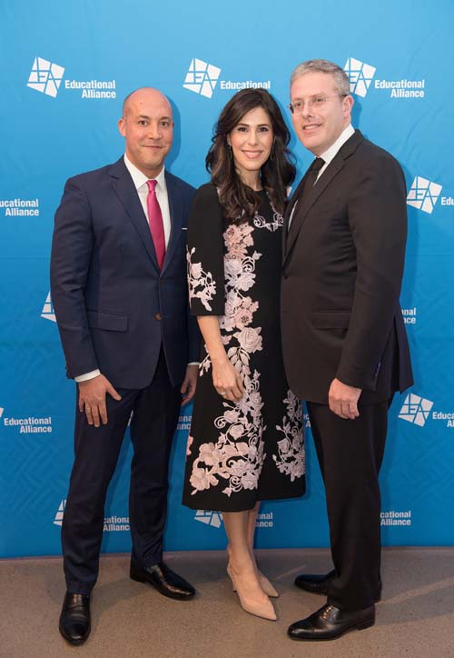David Scharf, litigation partner at Morrison Cohen LLP and 2018 Educational Alliance We the People Ball honoree (right), with wife, Cheryl Scharf (center), and Alan van Capelle, CEO of Educational Alliance (left).Photo by:  Melanie Einzig