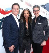 Steven Tyler with CEO of Youth Villages Patrick Lawler and Janie�s Fund