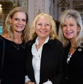 Inger Anderson, Marilyn Beuttenmuller and Denise Hanley.  Photo by:  Capehart
