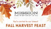Mission Society of New York City Fall Harvest Feast