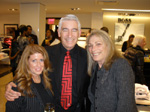 Board member Andrea Hoffman, Executive Director Bruce Michael and Paula Fenton