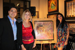David Rosenberg, Rosenberg Diamonds & Co.; Cristina Liguori, Winner of Raffled Painting & Tia Crystal, Artist