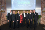 XanGo Founders honor Bill and Kathy Magee of Operation Smile with a black-tie fundraising event to kickoff their annual convention in Salt Lake City. XanGo Founders from left to right: Joe Morton, Gary Hollister, Bryan Davis, Aaron Garrity, Kent Wood and Gordon Morton, surrounding Kathy and Bill Magee