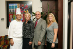 Chef Daniel Black, Gala Chairs Geri & Frank Morrow,