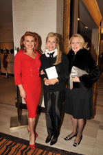 Georgette Mosbacher, Princess Yasmin Aga Khan and Cornelia Bregman