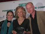 Tina Santi Flaherty center with Aiden Kelly (best actor) and Mary Murray (Best actress) at the Tina Santi Flaherty 1st Irish 2009 Theatre Awards.