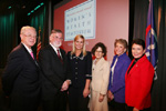 Dr. Herbert Pardes, Dr. Andrew Schafer, Melanie Bloom, Dr. Orli Etingin, Joan Weill and Myra Mahon at the 27th Annual Women's Health Symposium at New York Presbyterian Hospital/Weill Cornell Medical Center on Wednesday, October 7th, 2009.