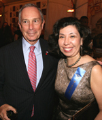 Mayor Bloomberg and Yolanda Jimenez