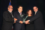 Emilio Estefan, Mario Kreutzberger, Gloria Estefan, Rabbi Meyer May, Executive Director, SWC