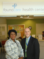 Yolette Bonnet, FoundCare CEO and Bill Quinn,