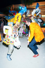 Christopher Leidy with Bahamas Junkanoo Revue dancer
