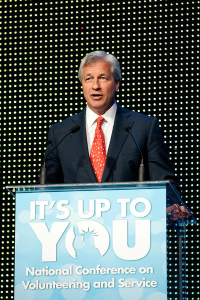 Jamie Dimon Addresses Service Leaders at the National Conference on Volunteering and Service and Doubles Commitment to